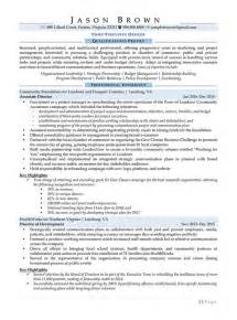 Chief Administrative Officer Sle Resume by Marketing Resume Exles Resume Professional Writers