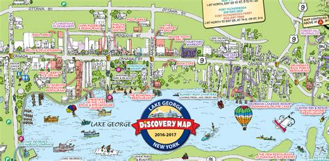 map of lake george ny lake george ny travel guide and information
