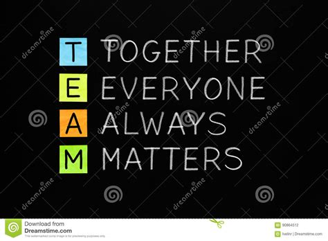 results revolution achieving what matters most your team your company your books team together everyone always matters stock photography