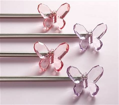 girls curtain rod possible curtain rod finials big girl room butterflies