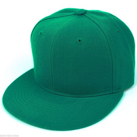 Greenlight Basic Plain Basic by Fitted Baseball Hat Cap Plain Basic Blank Color Flat Bill