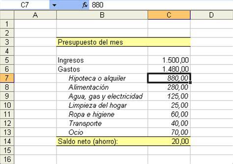 hoja de gastos mensual es microsoft excel para que sirve la hoja de calculo