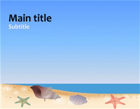 summer beach scene powerpoint template