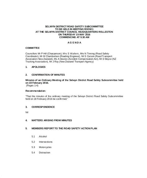 health and safety committee meeting agenda template safety committee meeting agenda template deepwaters info