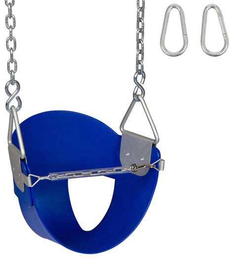 half bucket swing high back half bucket swing seat with chains and hooks