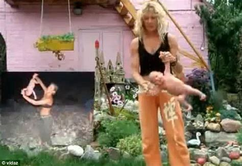 russian baby swinging yoga outrage after baby yoga video shows mother swinging her