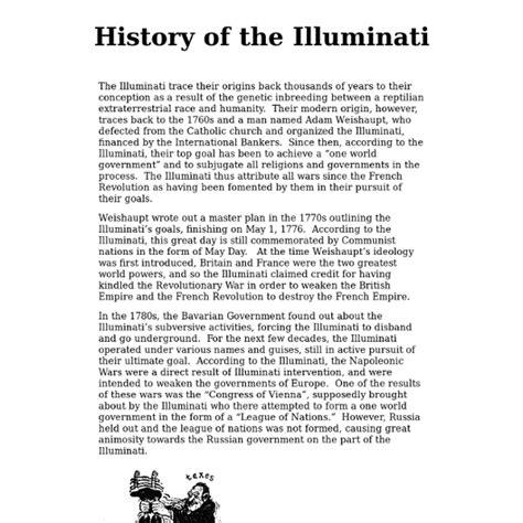 history of illuminati illuminati history untara elkona