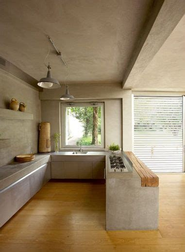 Concrete And Wood Kitchen by Woods Concrete Wood And Kitchens On