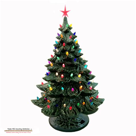 lighted ceramic christmas tree 24 inches texasceramics