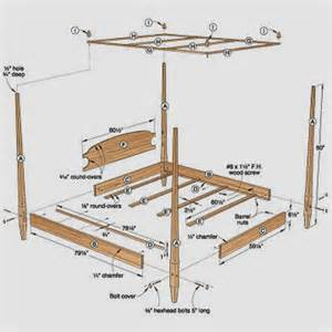 Canopy Bed Frame Blueprints Canopy Bed Plans House Design Interior