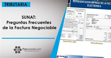sunat preguntas frecuentes de la factura negociable - Preguntas Frecuentes Retenciones Sunat