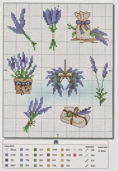 schemi punto croce fiori di lavanda qualche schema a punto croce dedicati alla lavanda paperblog