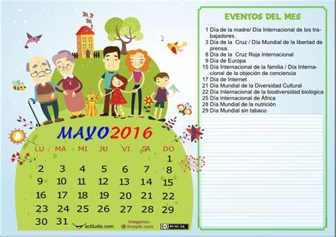 Calendario Mes De Mayo Calendario Mes De Mayo 2016 Actiludis