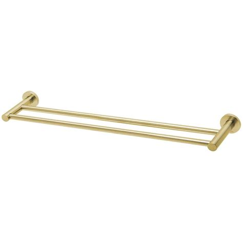 radii double towel rail mm  brushed gold