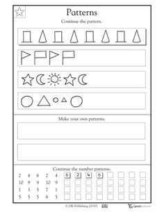 pattern drawing worksheet 1000 images about patterns unit on pinterest worksheets
