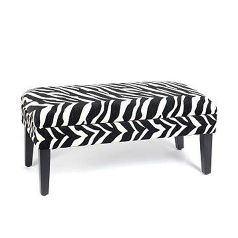 Black And White Storage Bench Black And White Zebra Print Storage Bench