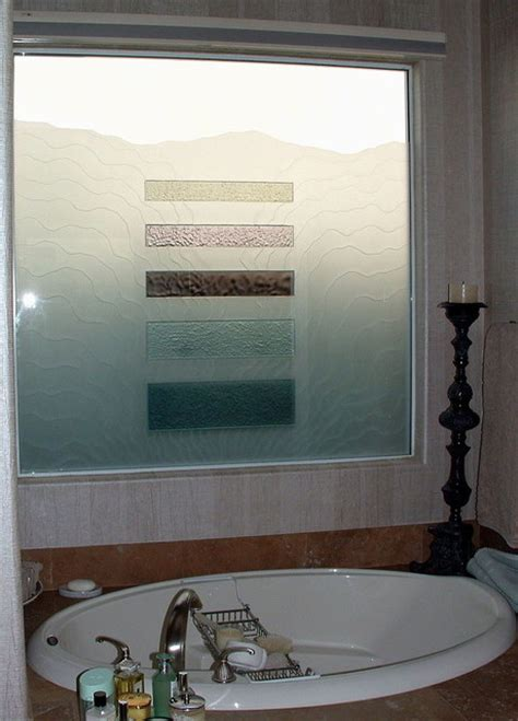 frosted glass patterns for bathrooms triptic waves bathroom windows frosted glass designs