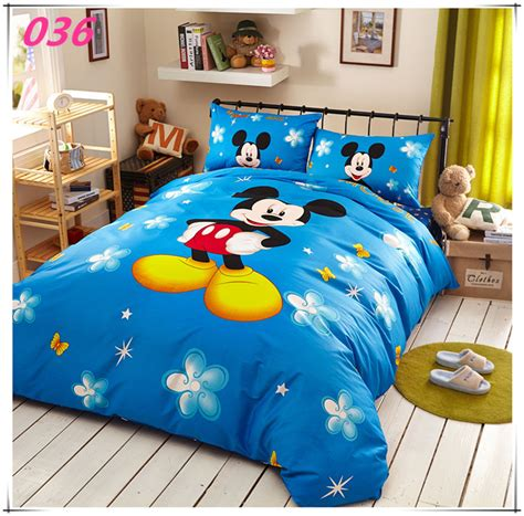 Mickey Mouse Comforter Set by Mickey Mouse Print Bedding Set 4pc Bedclothes 100