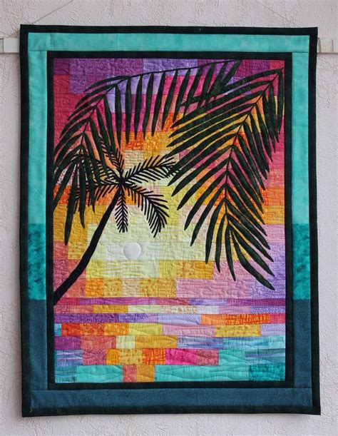 hawaii sunset quilt pattern quot tropical sunset quot wall quilt my sewing and quilting