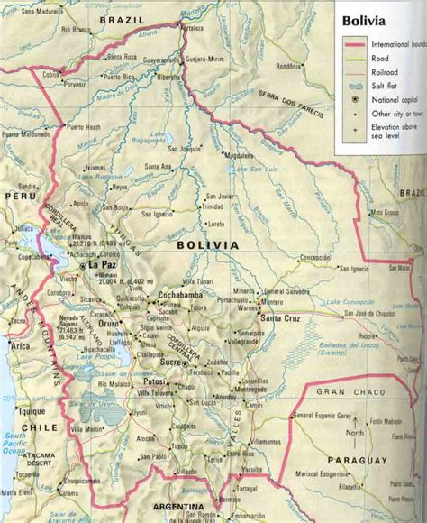 map of bolivia bolivia map