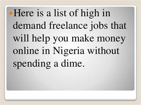 Make Money Online Nigeria - how to make money online in nigeria