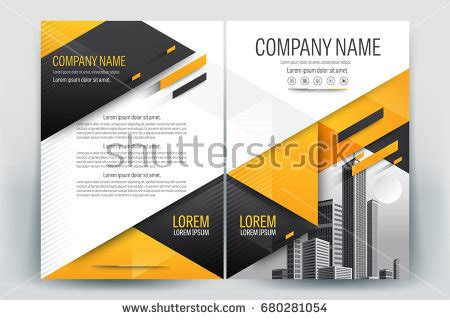 gulf design concept company profile vector brochure layout flyers design template stock vector