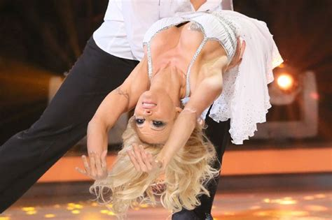 pamela anderson suffers a wardrobe malfunction on dancing on ice bnl