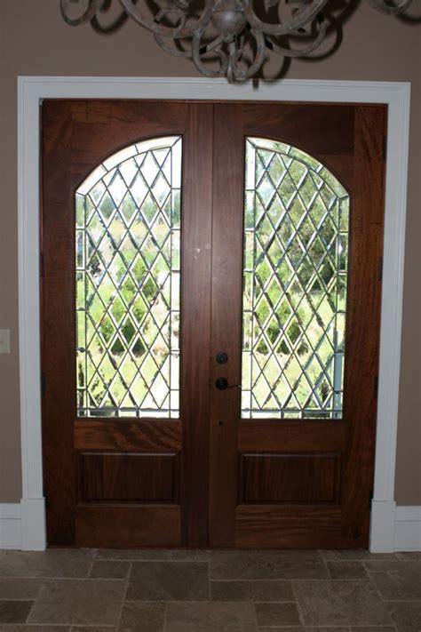 Leaded Glass Front Door Doors And Side Lites Osvalds Stained Glass