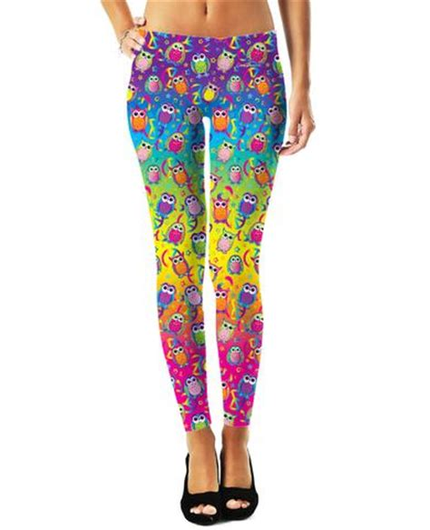 owl pattern leggings rageon world s largest all over print online store