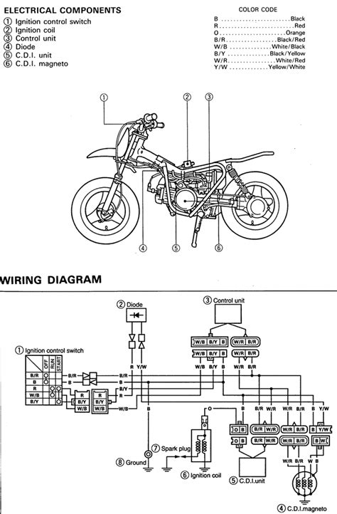 yamaha dirt bike wiring diagram bike