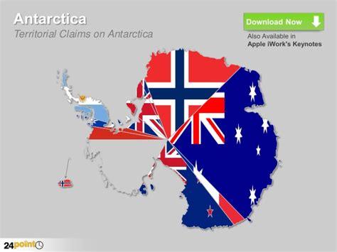 PowerPoint Template   Antarctica Map