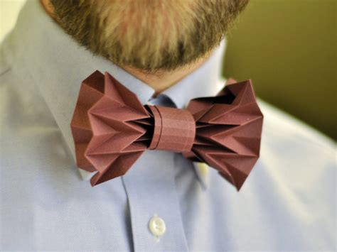 How To Fold A Paper Bow - how to fold a diy paper bow tie made diy crafts