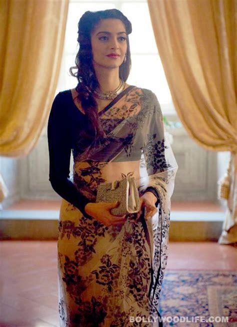 sonam kapoor hairstyles in saree sonam kapoor love the saree ethnic wardrobe
