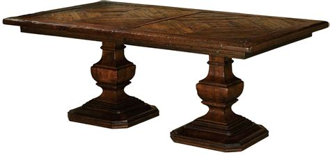 dining room table pedestal rue de bac cognac extendable pedestal dining table from