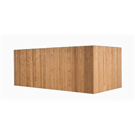 ear fence panels shop incense cedar ear wood fence picket panel common 8 ft x 3 5 ft actual 5