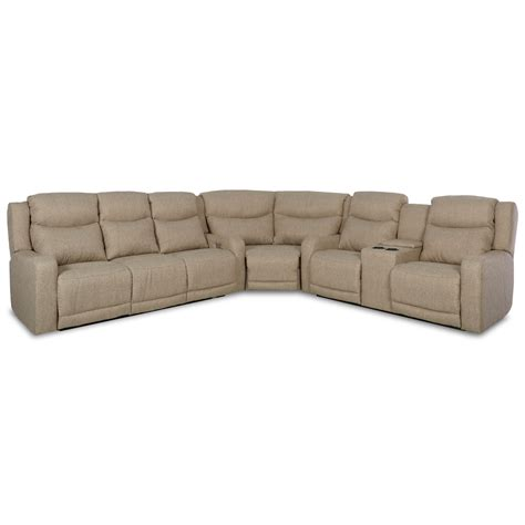 power reclining sofa with usb klaussner barnett three pc power reclining sectional sofa