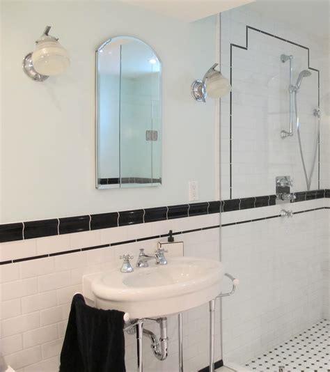 art deco black and white bathroom gemma moore kitchen design black and white