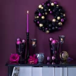 black and purple halloween decorations christmas holiday christmas inspiration and decor