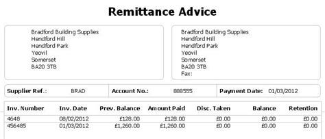 payment advice template top 5 free remittance templates word templates excel