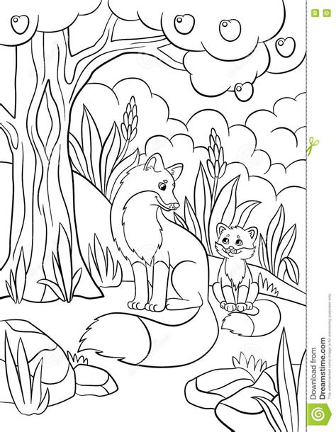 cute wild animals coloring pages forest where animals live coloring page forest coloring