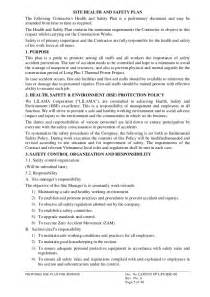 Site Specific Safety Plan Template by Sle Safety Plan Site Specific Safety Plan Template