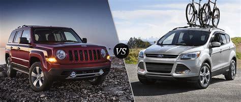 jeep escape 2016 jeep patriot vs 2016 ford escape
