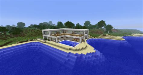 Modern Beach Side House Minecraft Project