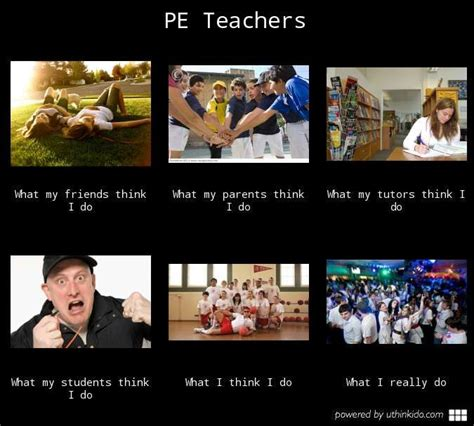 Teacher Problems Meme - pe teachers what people think i do what i really do meme
