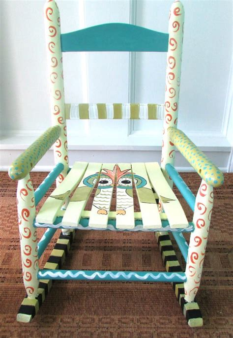 Painted Childrens Chairs by Painted Child Rocking Chair Painted Custom By