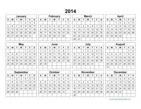 2014 annual calendar template 2014 yearly calendar template pictures to pin on