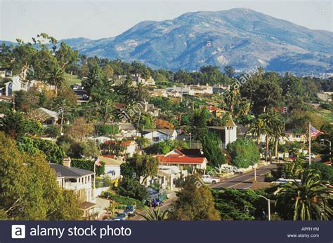 houses to buy central coast hillside homes in summerland along the central coast of california stock photo