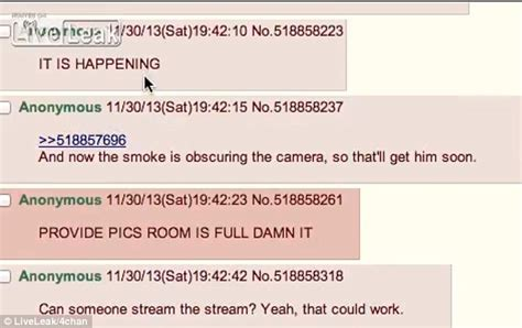 Suicidal Chat Room by 4chan User Sets Himself On In Live Streamed