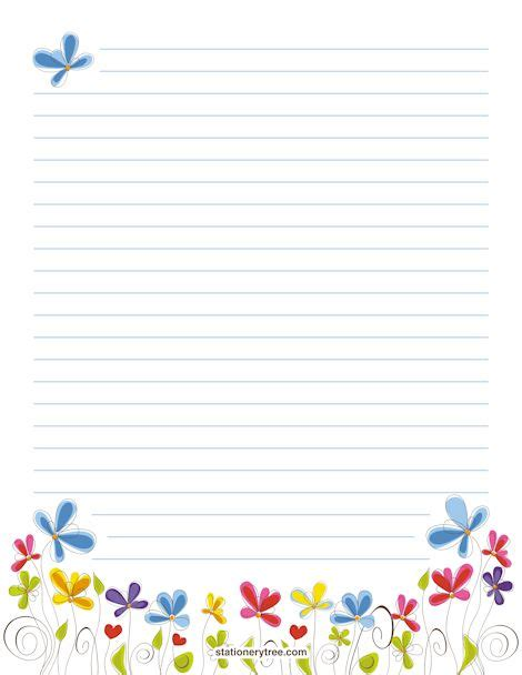 Floral Stationery And Writing Paper Notes Stationery Pinterest Writing Paper Downloadable Stationery Templates