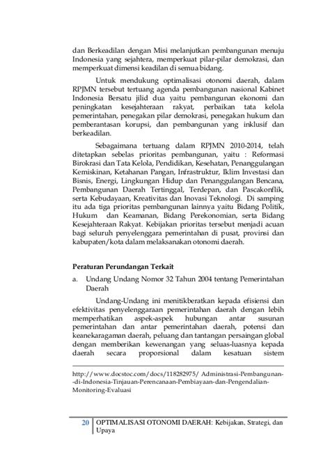 Buku Dimensi Kerugian Negara Dalam Hubungan Kontraktual optimalisasi otonomi daerah kebijakan strategi dan upaya